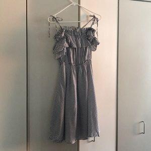 Loft striped blue dress